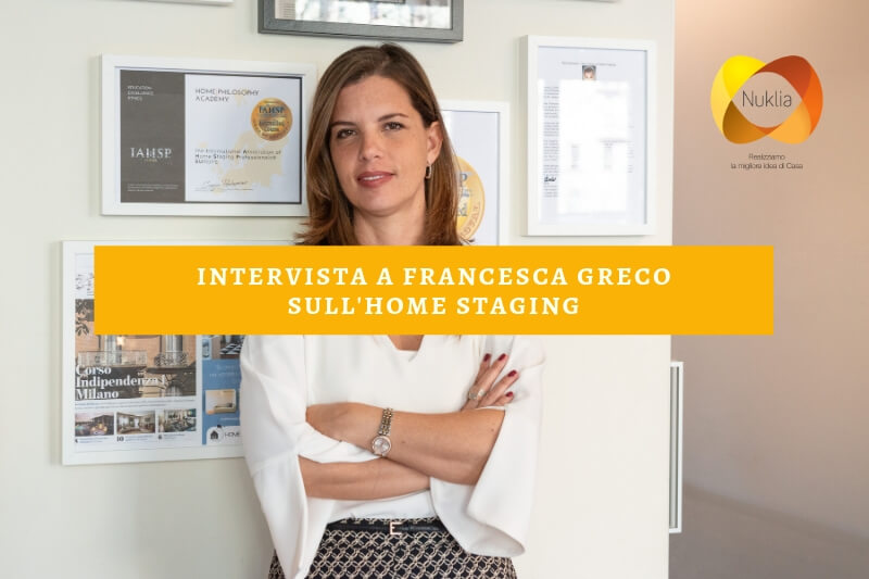 Intervista a Francesca Greco sull'home staging
